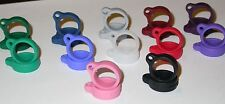 Silicone/Rubber E-cig/Vapor Pen lanyard ring; asst colors - 10 count