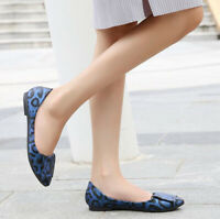Womens Leopard Casual Loafers Soft Sole Flats Pumps Drining Mocassin Boat Shoes