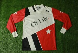PUMA #8 ORIGINAL 1991/1992 VINTAGE RARE MEN FOOTBALL L/S SHIRT JERSEY SIZE S 3-4