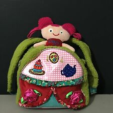 Girls Oilily Bright Doll Tea Party Embellished Toddler Backpack Purse