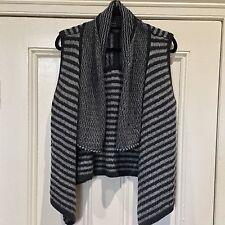 FIelds Vest  12  Wool Blend Grey Knit Waterfall As New SALE reduced