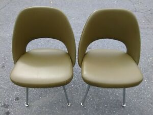 Knoll Eero Saarinen Office/Exc Chairs-Authentic-Green-Mid Century Modern-Nice