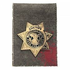 The Walking Dead Sheriff Badge Fight The Dead Canvas Bi Fold Sports Wallet AMC