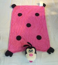 Pink Polka Dot Lady Bug Puppet Bathroom Beach Towel NEW