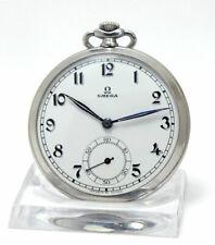 Rare Art Deco omega Frack Watch Pocket in Stainless Case 1935 Kal.38.5 L.T1