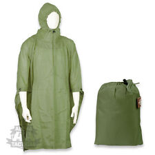 US ARMY STYLE WATERPROOF RIPSTOP PONCHO BASHA MILITARY NYLON OLIVE GREEN