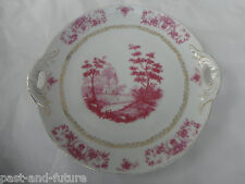 Antique Scenic Austrian 10 Inch Cookie Tray, Marked W In An Urn, Austria