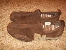 Merrell BARRADO Chestnut Brown Suede Zip Up Athletic Shoes Womens Size 5.5