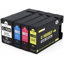4x PGI-1600XL ink cartridges for Canon Maxify MB2060,MB2160,MB2360,MB2760