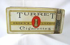 TURRET CIGARETTE TIN  ADVERTISING IMPERIAL TOBACCO MONTREAL CANADA 100 PK