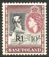 Basutoland #71a Mint - 1861 R! on 10sh Surcharge ($67)