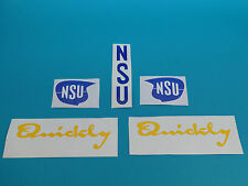 NSU urquickly Quickly Set Autocollant Lettrage Sticker Réservoir en tôle de protection