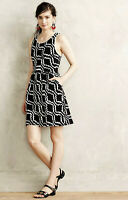 Anthropologie Womens Dress Size 4 Postmark Lantana Black and White
