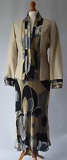 Ladies Peter Martin Wedding / Mother of the Bride Dress & Jacket Suit Size Uk 12