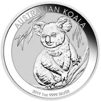 2019 P Australia 1 oz Silver Koala $1 Coin GEM BU Delayed SKU56034
