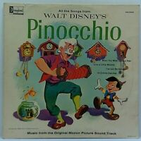 Disney - Pinocchio - Original Vinyl LP Album 1963 Vintage Film Soundtrack VG+