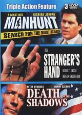 Triple Action Feat.:Manhunt,In a Stranger's Hand,& Death in the Shadows New DVD