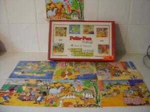 Jouets Véra puzzles Walt Disney 6 jeux de patience Peter Pan Belle et le Cochard