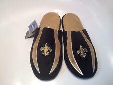 Men's Large 11-12 New Orleans Saints Slippers Machine Washable Non Skid NFL
