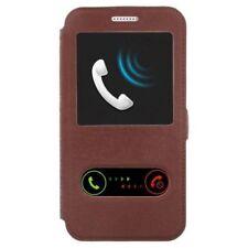 Fundas y carcasas color principal marrón de piel para teléfonos móviles y PDAs HTC
