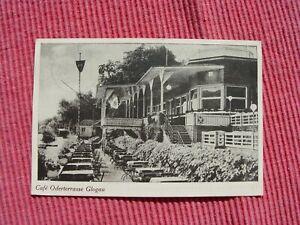 Glogau 1939 Schlesien Cafe Oderterrasse Glogow poln. Woiwodschaft