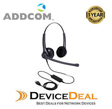 ADDCOM MS LYNC Duo Headset ADD30 USB for computer and Skype