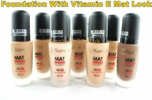 Flormar Mat Touch Foundation With Vitamin E for Mat Look 30 ml Different Shades