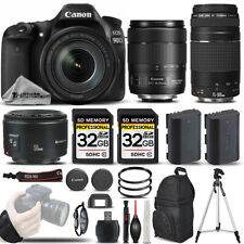 Canon EOS 90D DSLR Camera with 18-135mm USM + 75-300 III + 50mm 1.8 -64GB Bundle