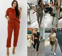 Women's Short Sleeve Boxy Loungewear Set Ladies Co ord Top Bottom 2PCS Tracksuit