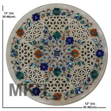 Marble Coffee Table Top Inlay Stones Mosaic Vintage Art Marquetry Antique Design