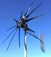 SUPER WIND GHOST 900W 11 BLADES CLEAR PROPS TURBINE 12 Volt DC 2 wire NONCOG PMA