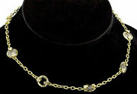 Judith Ripka 18K Yellow Gold Citrine Crystal Diamond Necklace Chain $6,500
