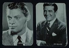 1940'S - MOVIE - STARS - TRADING - CARDS (2) - ORIGINAL