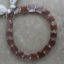 Chocolate Moonstone Faceted Square 8mm Semi-Precious Gemstones