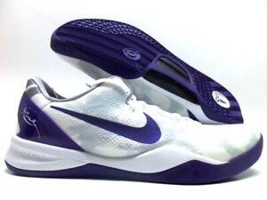 Nike Kobe 8 White Athletic Shoes for