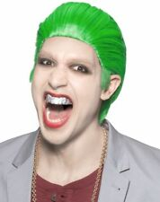 Joker Clown Style Green Wig Hair Anime Men Cosplay Adult Super Villain