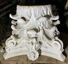 Antique Architectural Set Of Three Huge Neoclassical Plaster Column Capitals