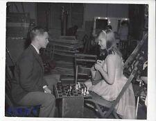 Brandon De Wilde Carol Lynley play chess VINTAGE Photo Blue Denim candid on set