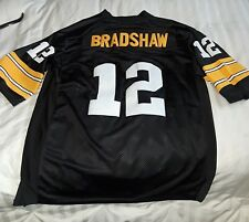 Men s Mitchell Ness Pittsburgh Steelers 12 Terry Bradshaw Throwback ... aeaccb6f6