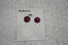 New with Tags!!! Style & Co. Pink & Pewter Circle Earrings ORIGINALLY $24!