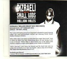 (DT18) Dizraeli And The Small Gods, Million Miles - 2013 DJ CD
