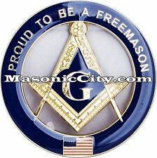 Z-13 Proud To Be A FreeMason Masonic Auto Emblem FreeMasonry Car Lodge Mason PHA