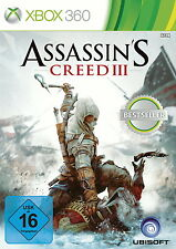 Assassin's Creed III (Microsoft Xbox 360, 2014, DVD-Box), nuevo + embalaje original