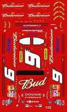 #9 Kasey Kahne 2008 Budweiser 1/32nd Scale Waterslide Decals