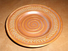 Hall Pottery Bread And Butter Plate Brown Swirl 2640 Saucer 6 Inch