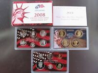 2008 S United States Mint Silver Proof Coin Set Presidential State Quarter Cents