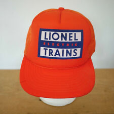 Vintage LIONEL Electric Trains Bright Orange Trucker Cap Hat One Size Adjust
