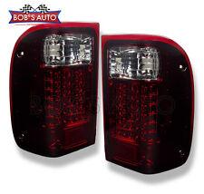 1993-2000 Ford Ranger Dark Red Smoked High Power LED Tail Lights Brake Lamps L+R