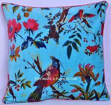 Bird Floral Handmade Throw Decorative Pillow Home Decor Velvet Cushion Cover Art