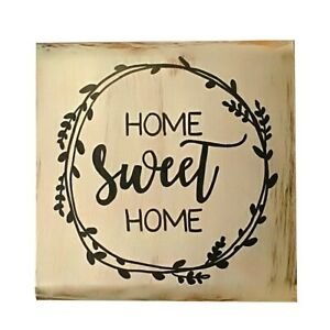 Decorative Rustic Wood Sign Home Sweet Plaque Housewarming Gift Farmhouse Style
